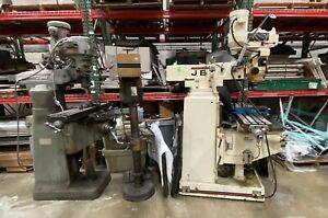 Jet Vertical Milling Machine Bridgeport Milling Machine both