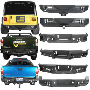 Hooke Road Steel Rear Bumpers Fit Jeep Wrangler Gladiator Toyota Tacoma Tundra