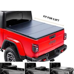5 60 3 Hard Tri Fold Truck Bed For 2020 Jeep Gladiator Tonneau Cover