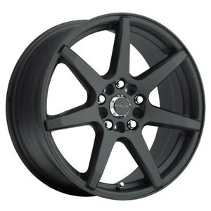 New Set Of 4 Raceline Wheels Evo 17x7 5 5x112 120 40 Black