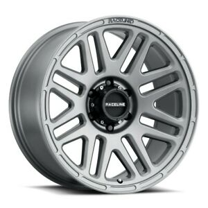 New Set Of 4 Raceline Wheels Outlander 18x9 6x139 7 12 Greystone