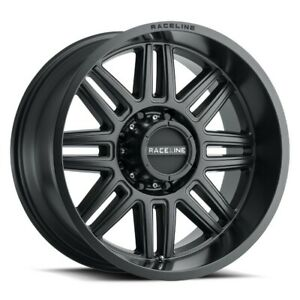 New Set Of 4 Raceline Wheels Split 17x9 5x127 12 Satin Black