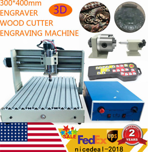 4 Axis 3040 Cnc Router Engraver Engraving Drill Milling Machine Remote Control