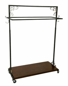 Boutique Vintage Double rail Rolling Clothingrack