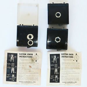 Hurst Vintage Usa Original Plastic Knob Box Parts 3 And 4 Speed Retail Boxes