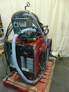 Lincoln Idealarc Cv400 400 Amp Arc Welder With Ln 7 Wire Feeder And Smoke Vacuum