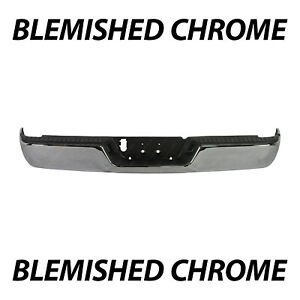 Blemished Chrome Steel Rear Step Bumper Assembly For 2009 2018 Dodge Ram 1500
