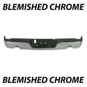 Blemished Chrome Rear Bumper Assembly For 2009 2018 Dodge Ram 1500 W Dual Exhst