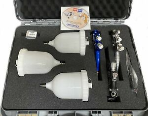 Devilbiss 3 Spray Gun Kit With Case Gte10 Black Gte20 Blue Flg 1 80