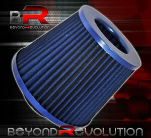 For Toyota Mr2 Celica Washable 3 Air Filter Double Stainless Steal Mesh Blue