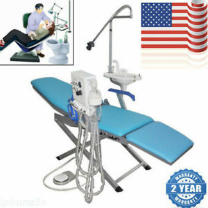 Luxury Dental Folding Chair Set handpiece Turbine Unit led Light weak Suction