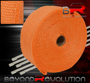 360 30ft Exhaust Manifold Header Pipe Heat Orange Wrap Shield Cover Insulation