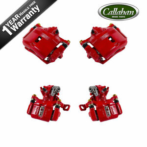 For 1999 2000 Honda Civic Si Coupe Front And Rear Red Brake Calipers