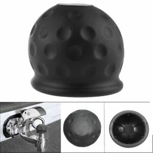 New Hot Trailer Car Hitch Cover Towball Protect Tow Bar Ball Case Black Rubber