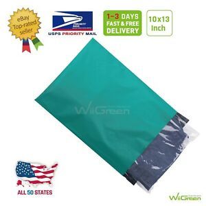 1 500 10x13 Green Poly Mailers Envelopes Plastic Shipping Shopping Bags 2 5 Mil