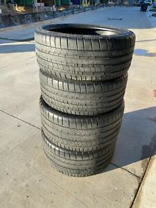 Michelin Pilot Super Sport Set Of Tires 235 35zr20 Fronts And 295 35zr20 Rears