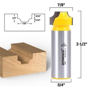7 32 Radius Round Over Groove Router Bit 3 4 Shank Yonico 13081t