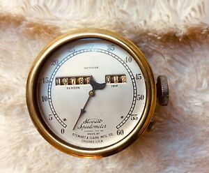 Antique Stewart Speedometer Brass Model 26 1912 Model T Ford
