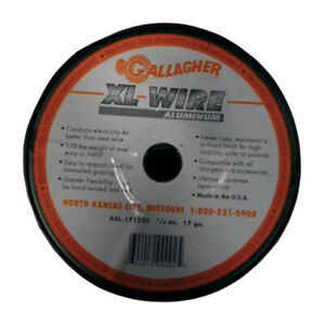 Gallagher Axl171320 17 Ga Aluminum Silver Electric Fence Wire 1320 Ft
