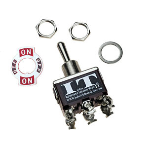 Industec 20a 125v Dpdt 6 Screw Toggle Switch Momentary 3 Position 12v See Videos