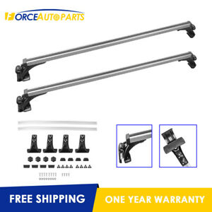 Set Of 2 48 Aluminum Car Roof Rack Cross For Suv Truck Cars W Naked Roof