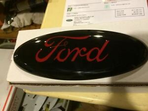 9 Ford Black Red Tailgate Or Grille Emblem Stick On Custom Paint F 150 Edge