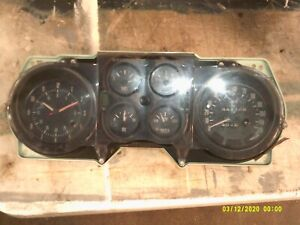 1973 77 Grand Prix Can Am Gauges Clock Oem Lemans Cluster Pontiac
