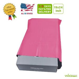 1 100 19x24 Pink Poly Mailers Large Envelopes Plastic Shipping Bags 2 5 Mil