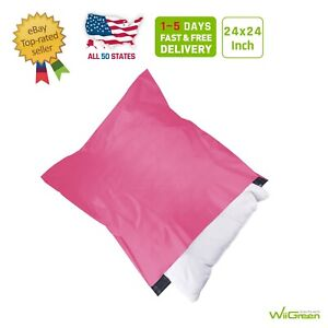 9 24 X 24 Inch 2 5 Mil Poly Mailers Shipping Envelopes Packaging Bags Pink