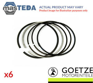 Engine Piston Ring Set Goetze Engine 08 306800 00 6pcs I Std For Vauxhall