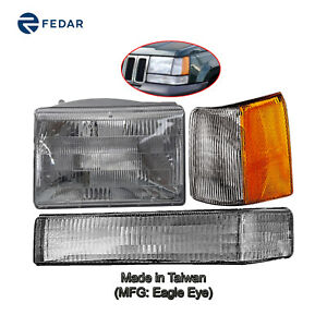 Headlight Signal Light Fit 1993 1994 1995 1996 Jeep Grand Cherokee Driver Side