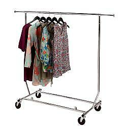 Clothing Rack Rolling Collapsible
