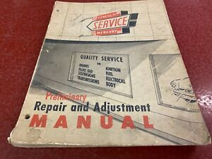 1952 Lincoln Mercury Preliminary Repair And Adjustment Manual Good Condition