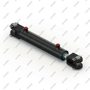3 Bore 12 Stroke Hydraulic Welded Cylinder Clevis Ports Are 180 W pins