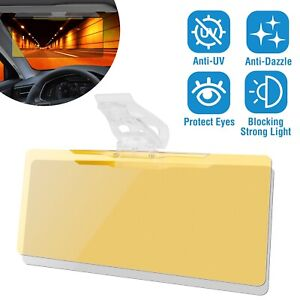 2 In 1 Hd Day Night Anti Glare Car Visor Uv Blocker Vehicle Glasses Sun Shade
