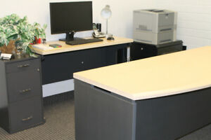 Lightly Used Office Desk And Credenza