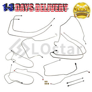 Chevrolet Avalanche Escalade Ext Complete Brake Line Kit Abc Stainless 2002 2007