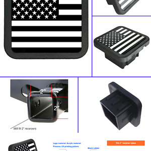 Usa Us American Flag Trailer Hitch Cover Tube Plug Insert Fits 2 Receivers