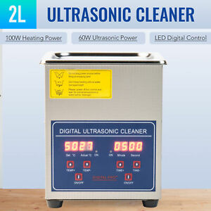 2l Professional Digital Ultrasonic Cleaner Machine With Timer Heated Cleaning