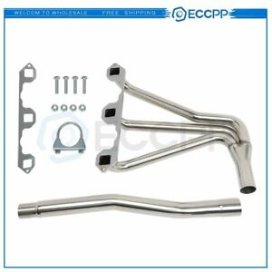For Mg Mgb 1962 80 1 8l L4 Stainless Performance Manifold Header W Gasket Bolts