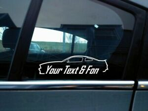 2x Custom Your Text Car Sticker For Ford Mustang Gt 5th Gen 2011 2014 S197