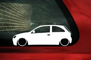 2x Lowered Car Stickers For Opel Corsa C Sri Hatchback L72
