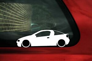 2x Lowered Car Stickers For Opel Tigra A 19942001