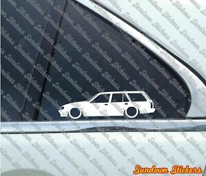 2x Lowered Car Stickers For Opel Rekord Caravan E2 Station Wagon