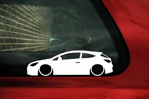 2x Lowered Car Stickers For Opel Astra J Gtc Mk6 3 Door