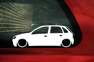 2x Lowered Car Stickers For Opel Corsa C 5 Door Hatchback L73