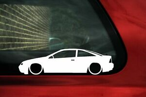 2x Lowered Car Stickers For Opel Calibra