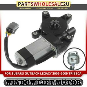 Left Side Window Lift Motor W 6 Tooth Gear For Subaru Legacy Outback 2005 2009