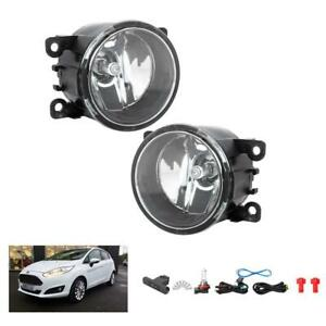 New For 2014 2017 Ford Fiesta Clear Fog Driving Light Pair Lh Rh Replacement Us
