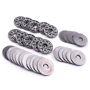 10x Thrust Needle Roller Bearing 8 21 2mm Thrust Bearings With 2 Washers